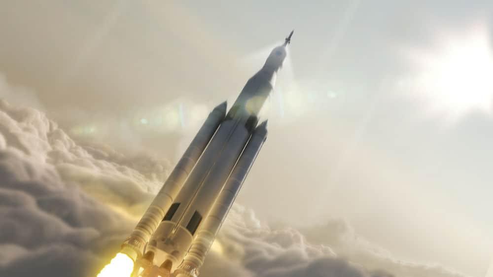 رواد فضاء على أول رحلة لصاروخ ناسا الجديد