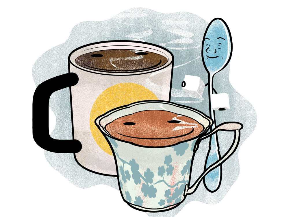 هل للقهوة تأثير منبه مختلف عن الشاي؟