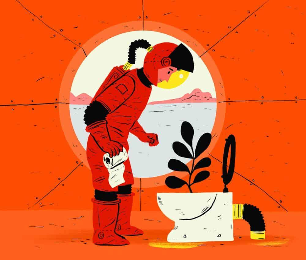 هل من الممكن استخدام البراز البشري كسماد على سطح المريخ؟