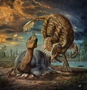هذا الديناصور الضخم المكسو بالريش كان يضع بيوضه في عش بحجم إطار شاحنة كبيرة