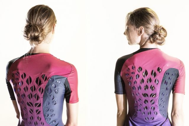 معهد ماساتشوستس للتكنولوجيا استخدم بكتيريا لصناعة قميص تدريب ذاتي التهوية