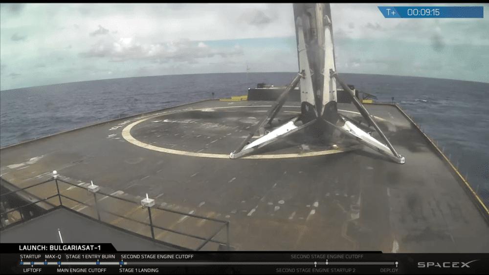 صاروخ فالكون 9 المستعمل سابقاً ينجو بعد أصعب عملية هبوط لسبيس إكس حتى الآن