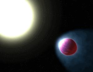 هذا الكوكب الخارجي العملاق يمتلك غلافاً جوياً متوهجاً