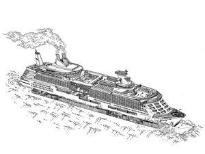 العالم السحري للسفن السياحية