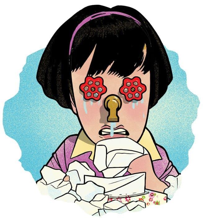 لماذا يسبب البكاء سيلان الأنف؟