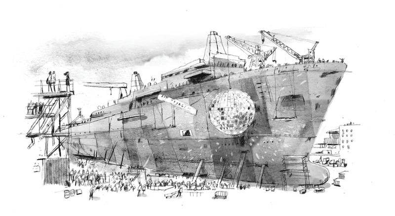 رحلة بناء السفن من مرحلة التجميع وحتى الانطلاق