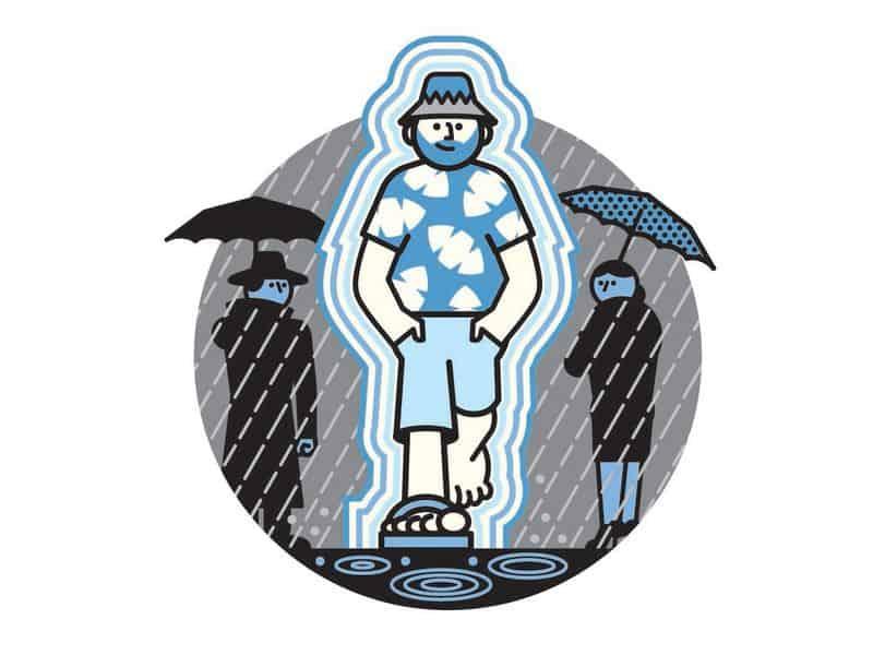 حقل طاقة متنقل يحميك من الأمطار