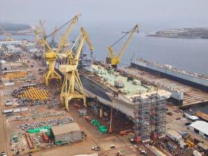 بالصور: صناعة السفن الحربية الأميركية