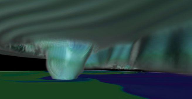 محاكاة إعصار قاتل باستخدام قوة الحوسبة الفائقة