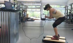 متزلجو الولايات المتحدة الأولمبيون يتدربون باستخدام الواقع الافتراضي