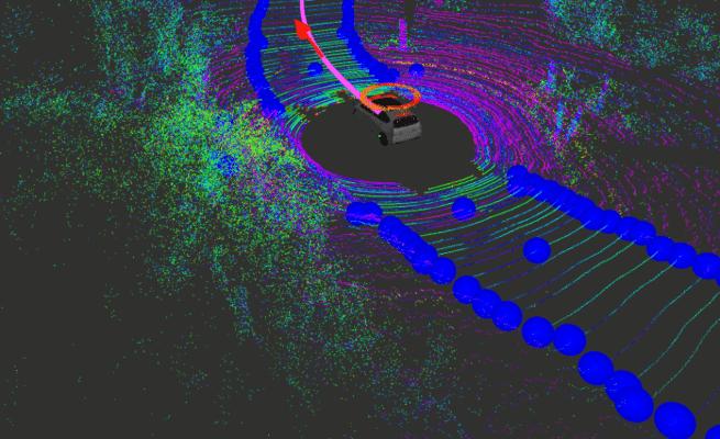 سيارة ذاتية القيادة تعتمد على خطوط ليزرية دوارة للتحرك في الطرقات الريفية