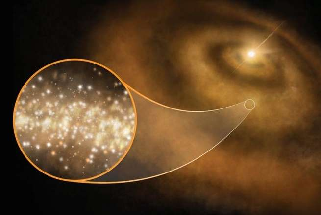 إشارات فضائية غريبة قد تكون ناتجة عن دقائق دوارة من الغبار الماسي