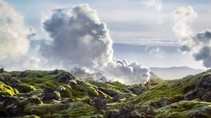 تحويل ثنائي أوكسيد الكربون إلى صخور صلبة