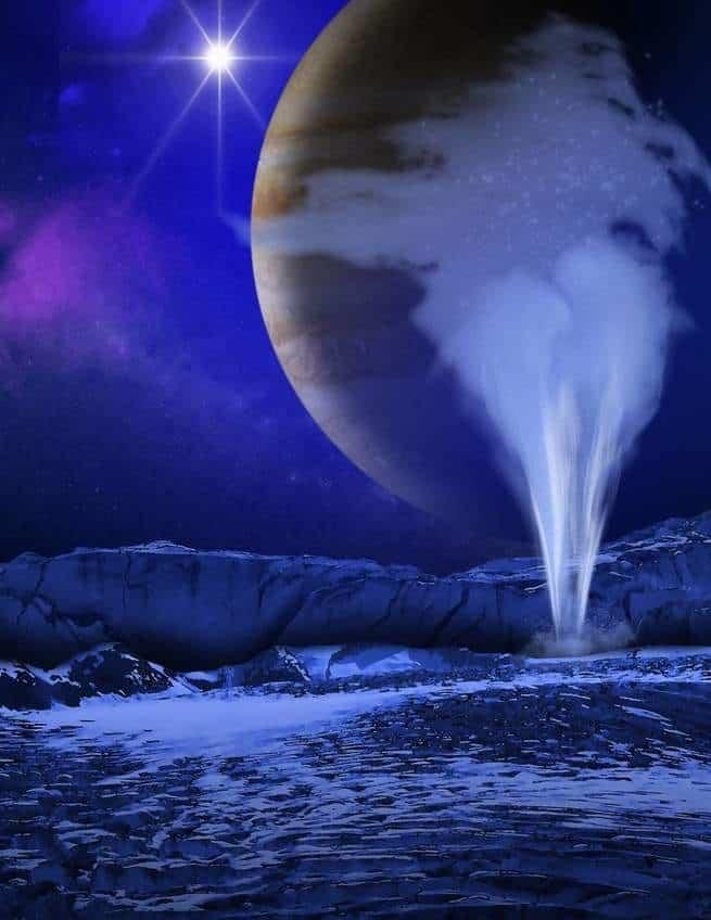 قد يكون الدليل على وجود الحياة على أوروبا، قمر المشتري، تحت سطحه مباشرة