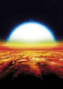كوكب عملاق خارج النظام الشمسي مكتظ بالتيتانيوم والحديد في صورتهم الغازية