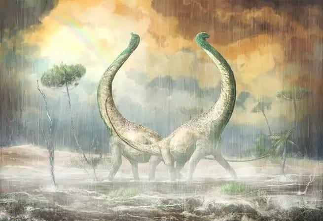 اكتشاف تيتانوصور جديد بعظام ذيل على شكل قلب
