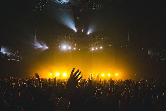 حفلة موسيقية, زحمة, جموع, ناس, لايف ستايل