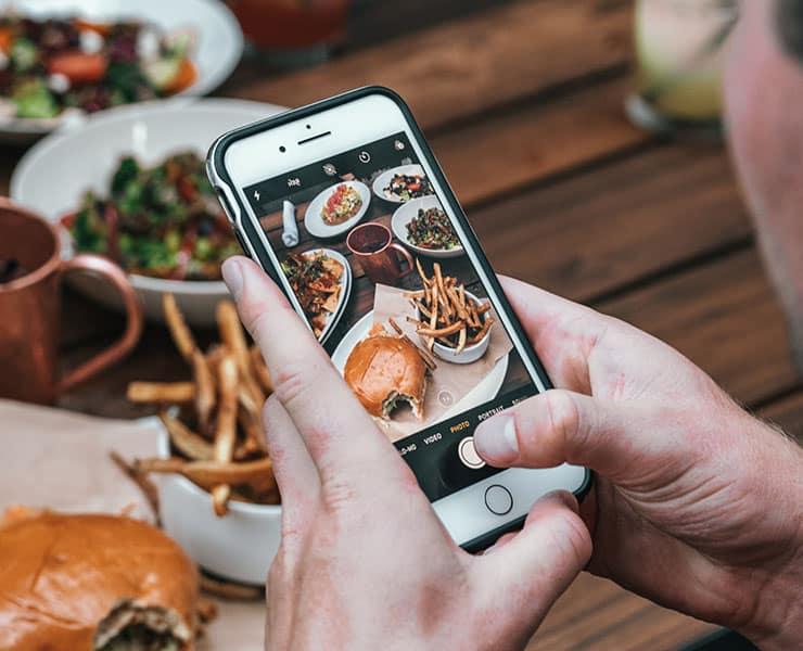 هواتف ذكية, مستشعر هواتف, سامسونج, طعام, أغذية