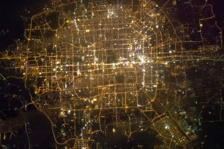 بكين من الفضاء