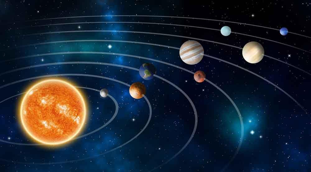 النظام الشمسي, كواكب ونجوم, أعداد المجلة