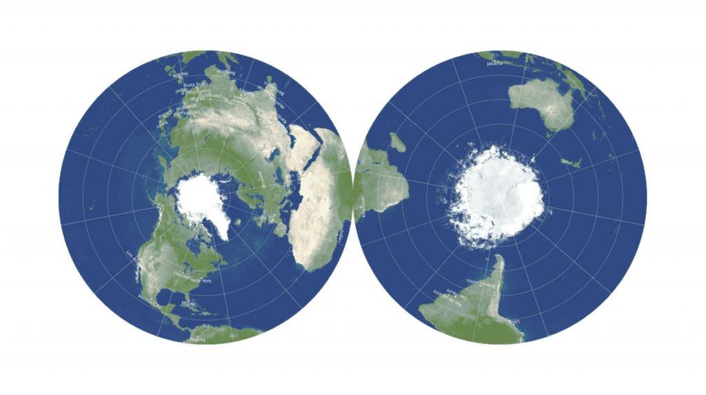 مسطحة: رسم خريطة تخيلية للعالم جديدة كلياً