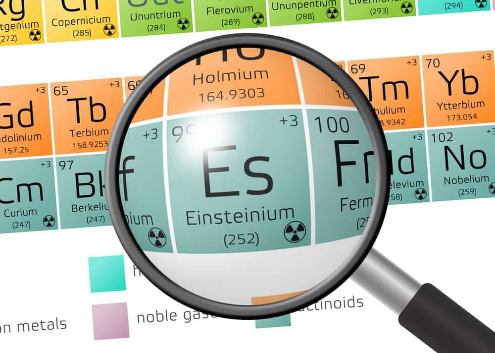 بأقل من 250 نانوجرام: تحديد خصائص عنصر الأينشتانيوم لأول مرة