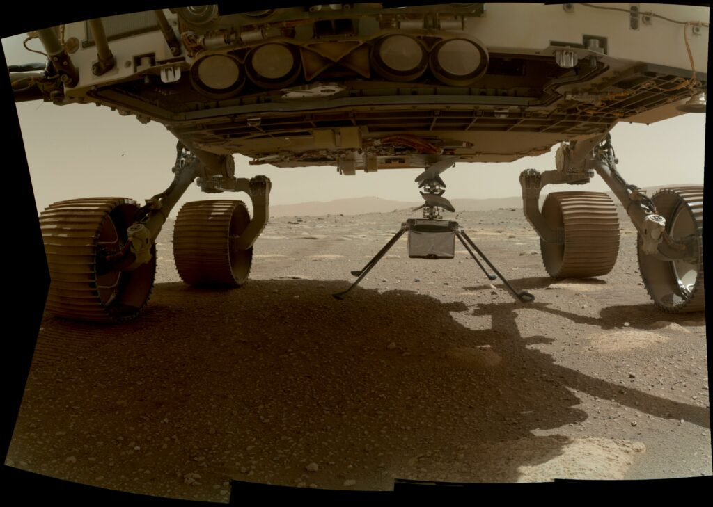 المروحية الأولى على المريخ تستعد لتحلق بعيداً