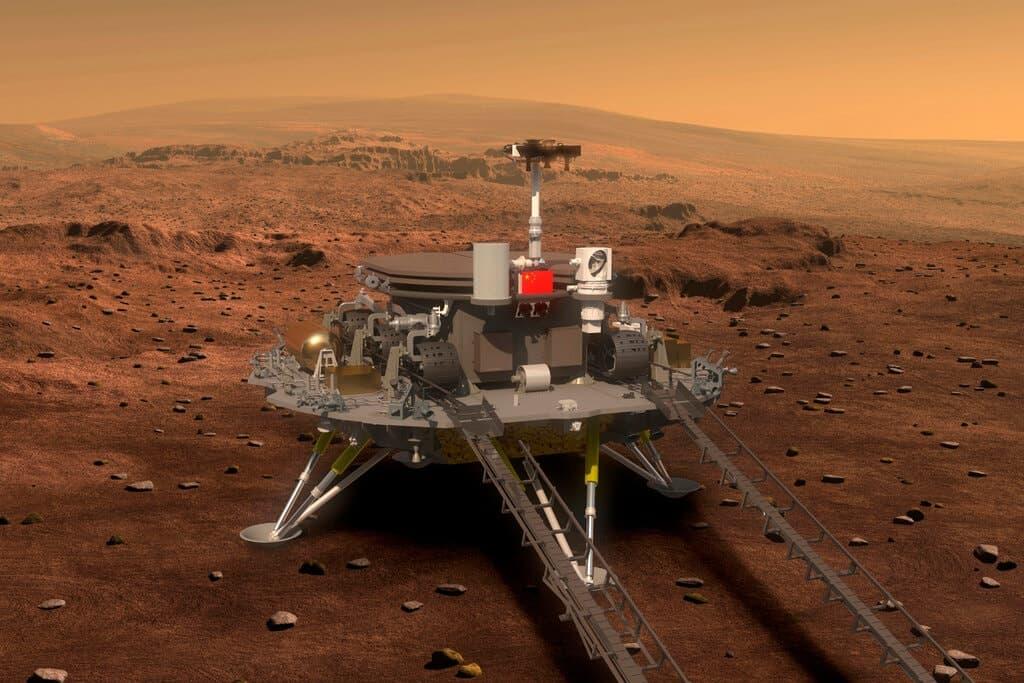 الصين في المريخ: العربة الصينية الجوالة تحطّ على الكوكب الأحمر
